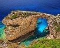 Трипитос (Камара) - природная каменная арка, нерукотворный мост над морем на западе острова Паксос